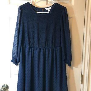 Lauren Conrad large navy blue dress